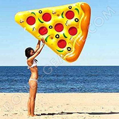 Bouée géante pizza plage